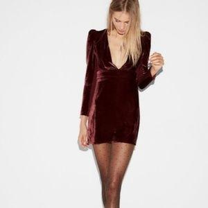 NWT EXPRESS Long Sleeve Vneck Velvet Dress